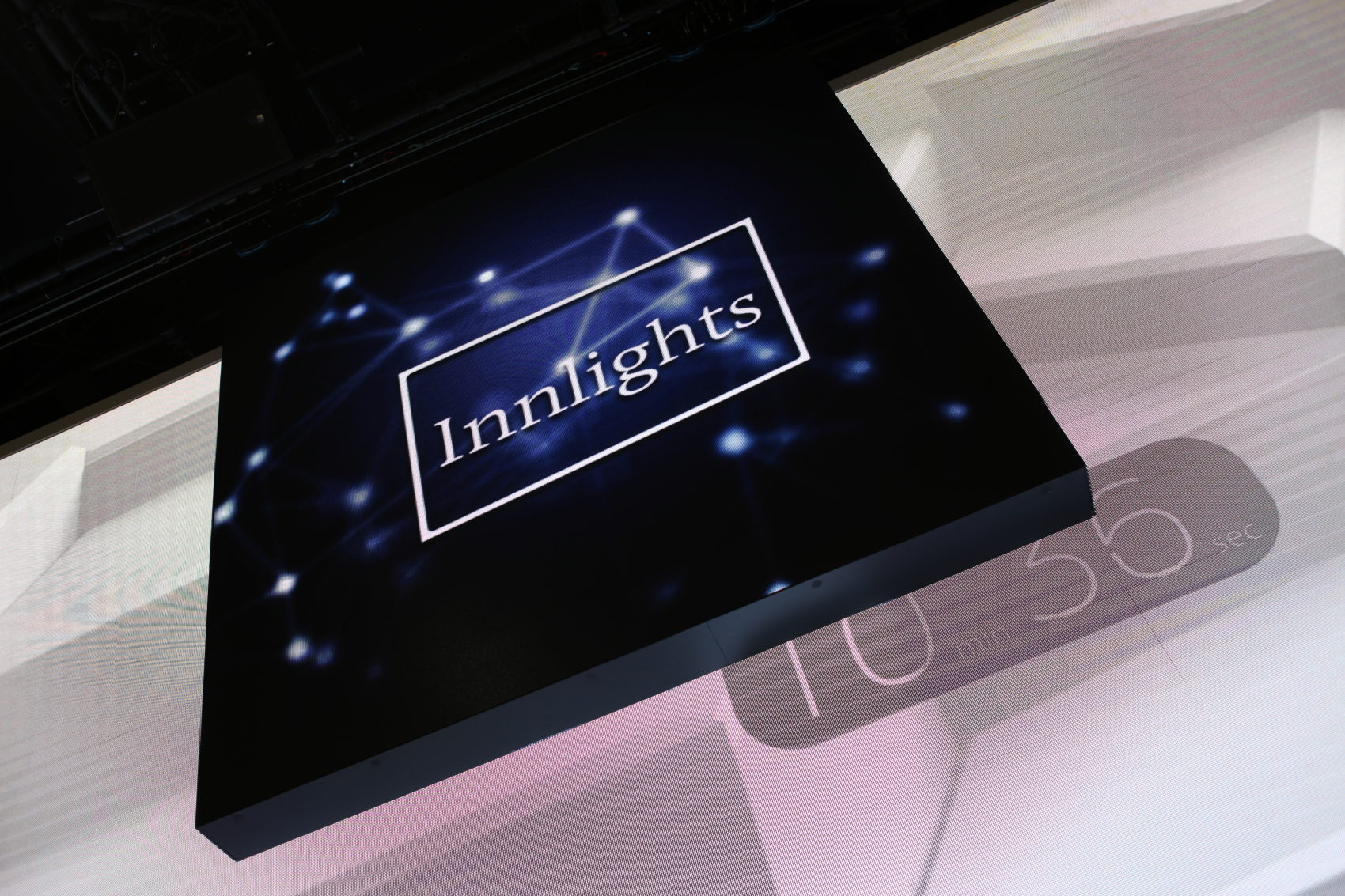 Innlights Messestand - InnScreen J2 - BOE 2017 - kinetic LED-screen