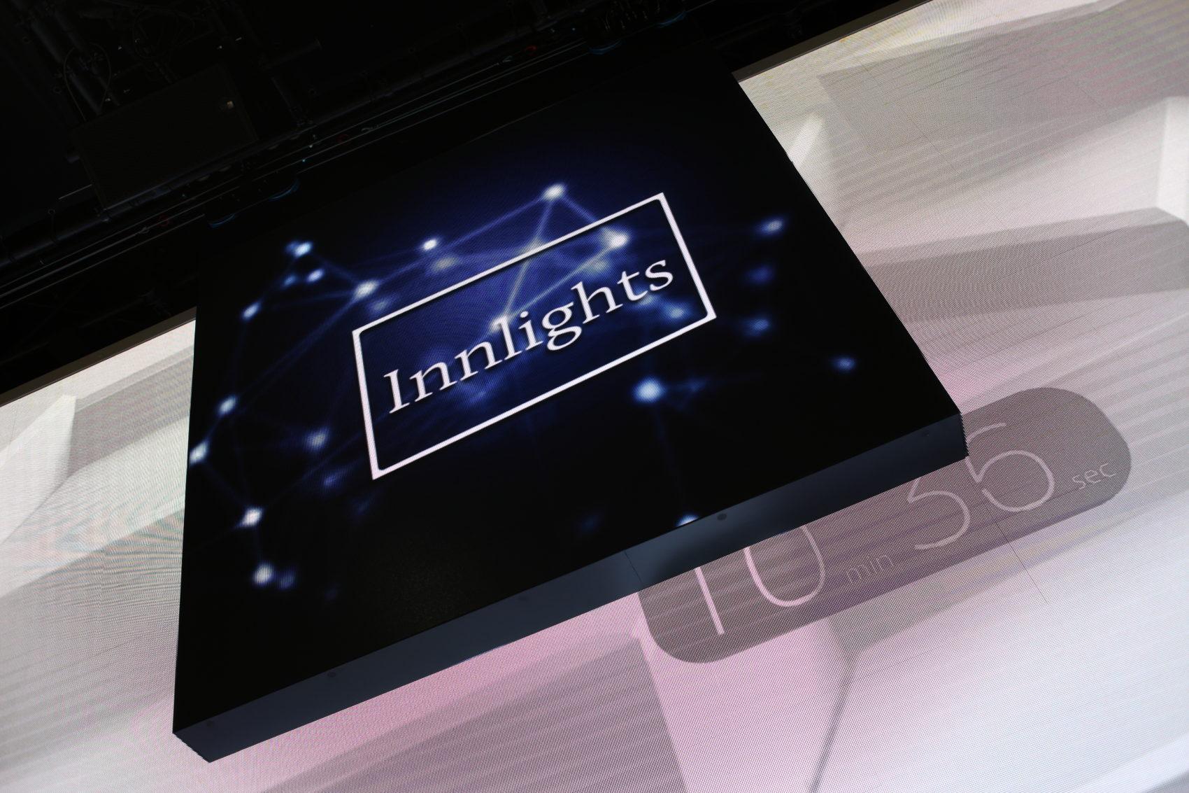 Innlights Messestand - InnScreen J2 - BOE 2017 - kinetic LED-screen